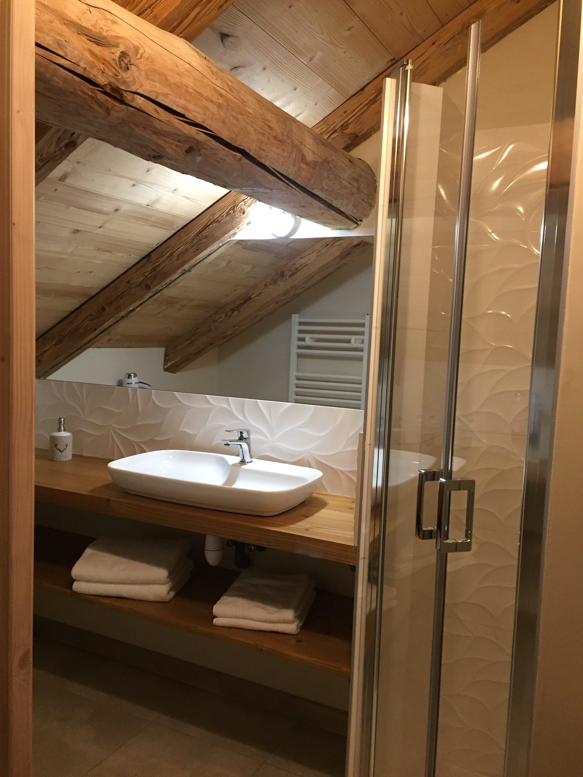 Salle de bain - chambre l\'Ambrevetta - La Ferme d\'en haut